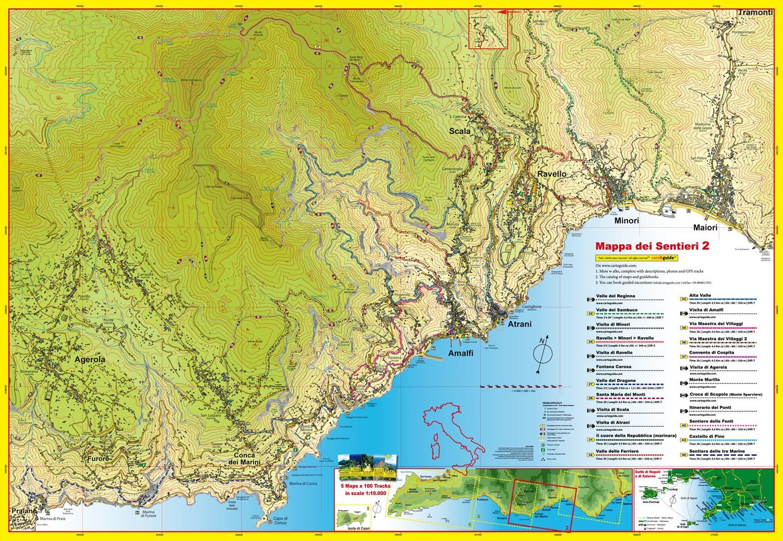 Cart&Guide num. 2 - Detailed walking maps from Minori to Amalfi