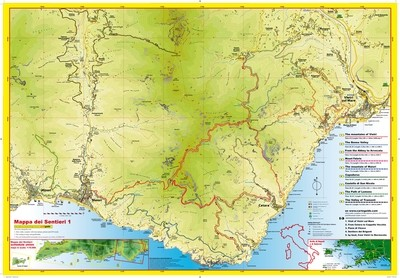 Cart&Guide num. 1 - Detailed walking maps from Salerno to Minori