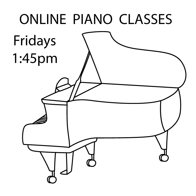 Piano Play Time - ONLINE Fridays 1:45-2:30pm