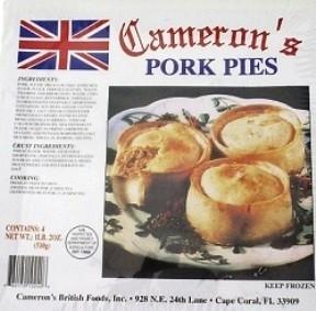 Cameron's Pork Pies 4 Pk