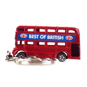 Double Decker Bus Keyring