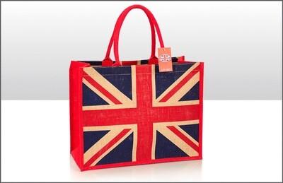 Union Jack Jute Bag