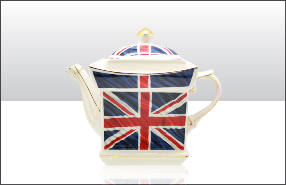 Union Jack Ceramic Teapot