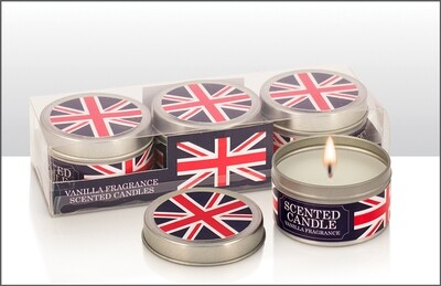 Union Jack Candles Set Of 3