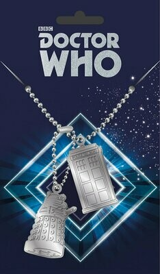 Dr Who Official Dog Tag Necklace