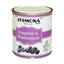 Jesmona Liquorice & Blackcurrant Tin 250g