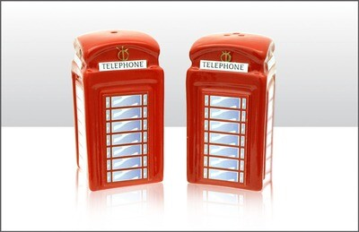 Phone Box Cruet Set