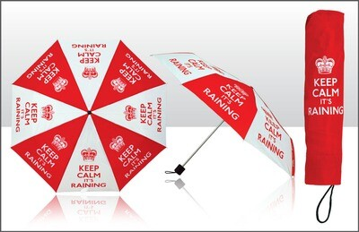 Keep Calm Umbrella Red