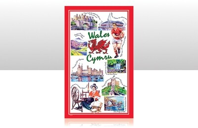 Iconic Wales Tea Towel