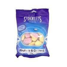 Stockleys Rhubarb & Custard 125g