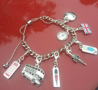 British Charm Bracelet