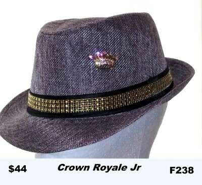 British themed Fedora Crown Royale Jr F238