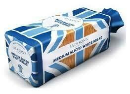Jacksons Medium White Sliced Bread 800g