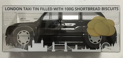 London Taxi Filled With 100g Shortbread Biscuits