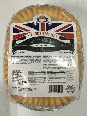 Crown Pie Steak & Ale 6oz