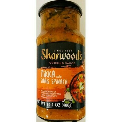 Sharwoods Tikka with Saag Spinach Cooking Sauce 400g