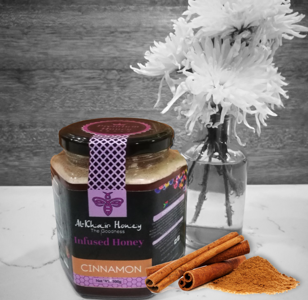 Infused Honey, Cinnamon, 370g  Glass Jar