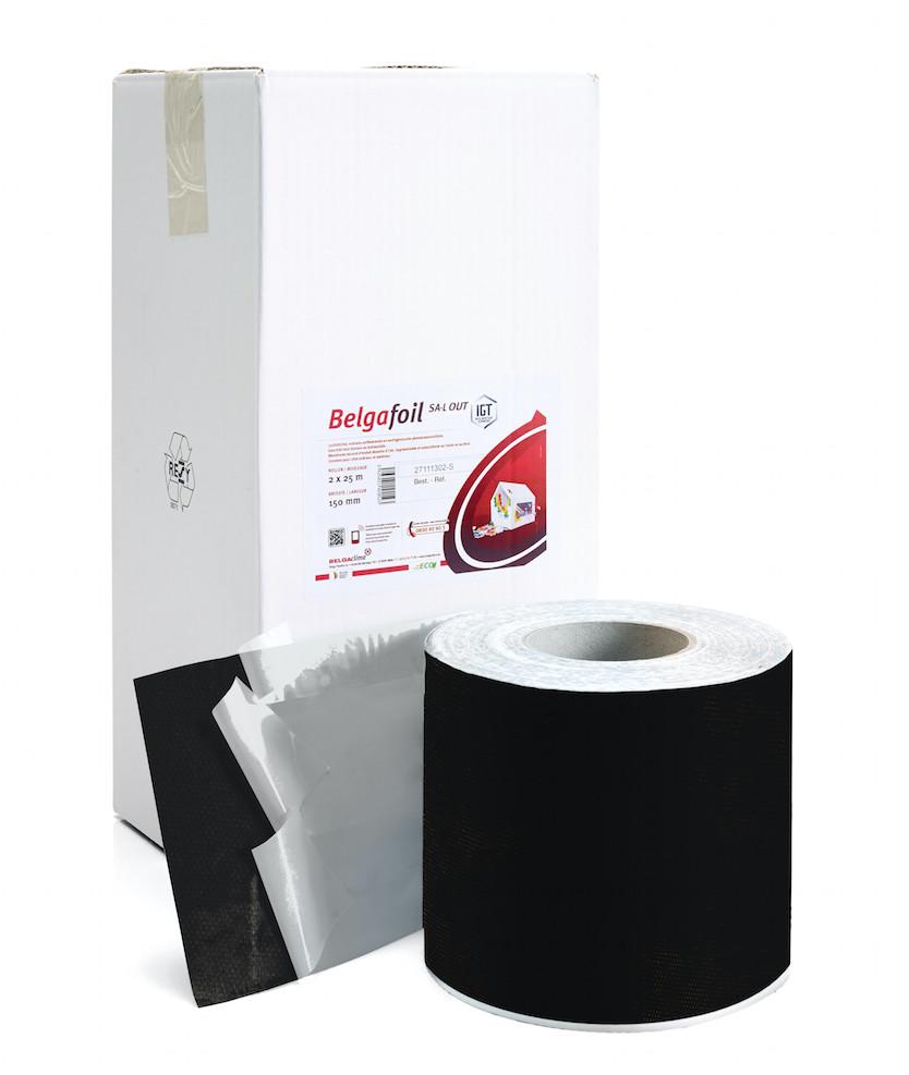 BelgaFoil SA-L out, self-adhesive external window tape, 100mm x 25m