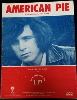 American Pie Don McLean Vintage Sheet Music 1970s