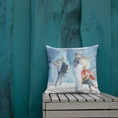 The Vibe & Dime Music Print Pillow