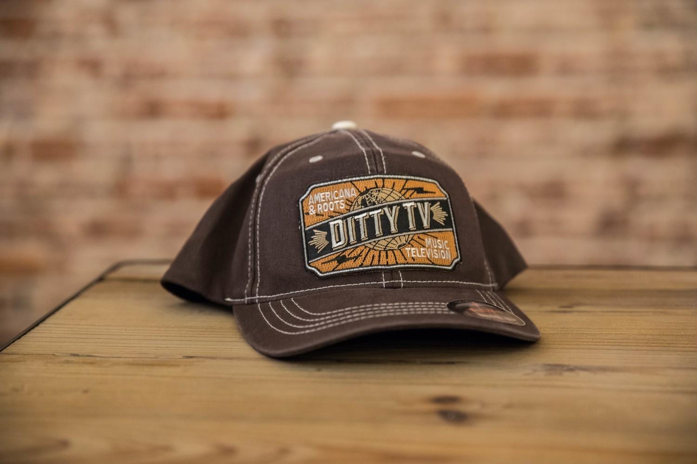 DittyFLEXFIT Contrast Stitch Ball Cap - Brown