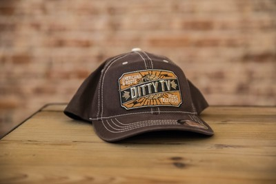 DittyFLEXFIT Contrast Stitch Ball Cap - Brown