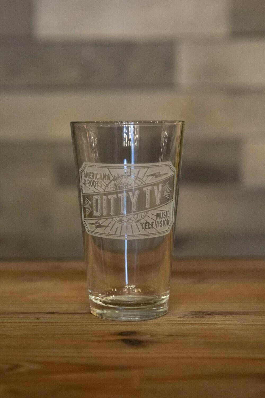 DittyTV Pint Glass