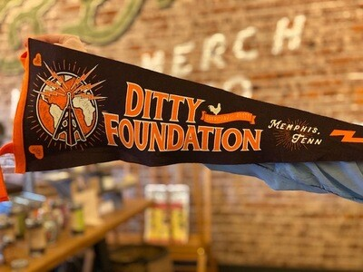 Pennant--Ditty Foundation--Maroon