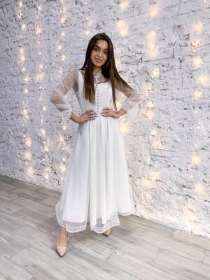 Платье с пуговками