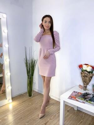 Платье мини с квадратным вырезом