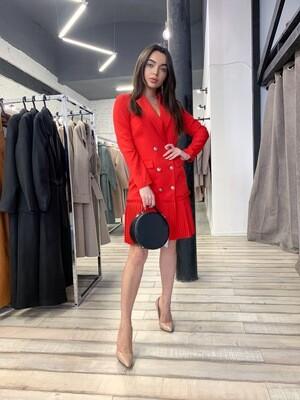 Платье-пиджак с плиссировкой