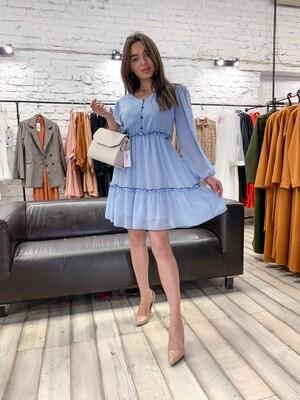 Платье шифоновое с оборками