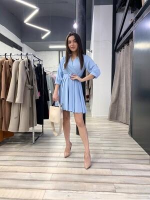 Платье мини с поясом