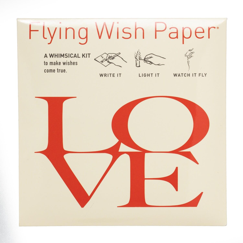 Flying Wishing Paper LOVE