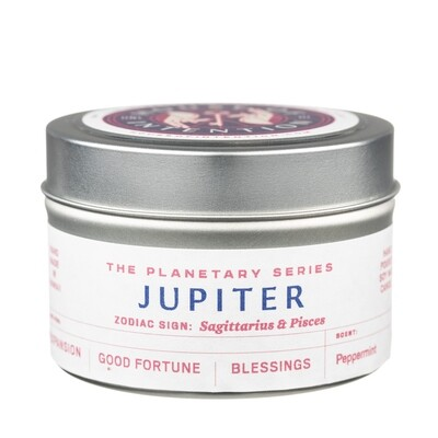 Jupiter Zodiac Sign: Sagittarius & Pisces Intention Candle