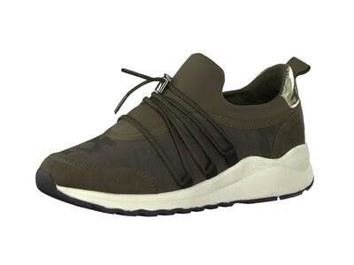 s.Oliver khaki dames sneakers