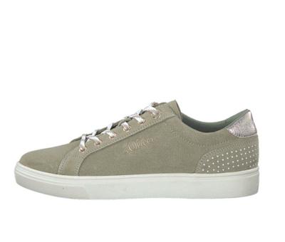 s.oliver dames sneakers gemaakt van leer