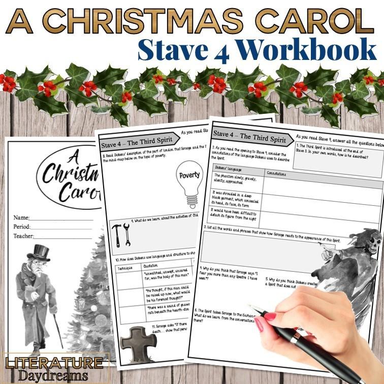 Christmas Carol Chapter 4 workbook
