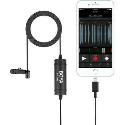 Boya DM1 Lightning omnidirectional lavalier mic for iOS devices