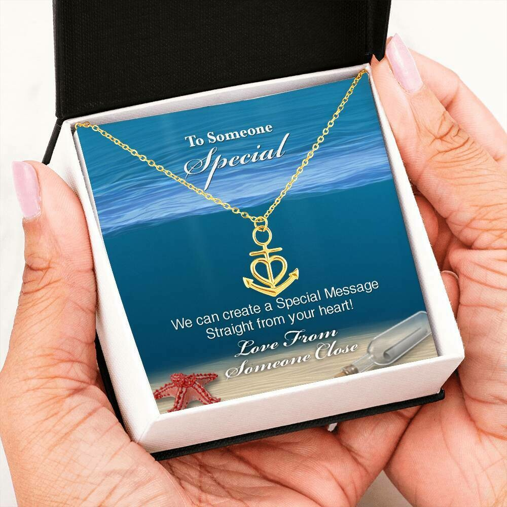 Send A Special Message Card (Anchor) - Customised Design Service Only