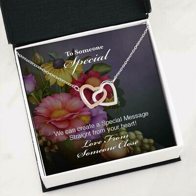 Send Special Message Card (Interlocking Hearts)- Customised Design Service Only
