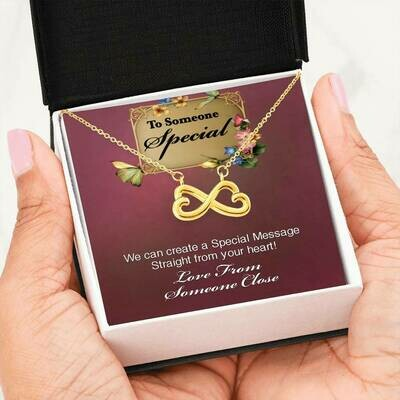 Send A Special Message Card (Infinity) - Customised Design Service Only