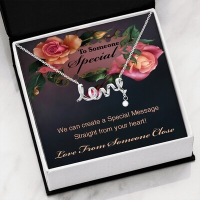 Send A Special Message Card (Scripted Love) - Customised Design Service Only