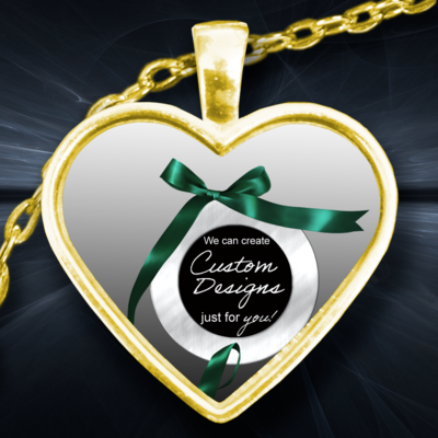 One Inch Heart Pendent -Custom Design Service Only