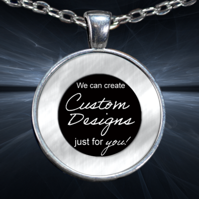 One Inch Circle Pendent and Bracelet -Custom Design Service Only