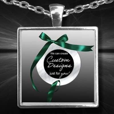 One Inch Square Pendent and Bracelet -Custom Design Service Only