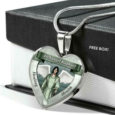 Archangel Raphael Heart Necklace
