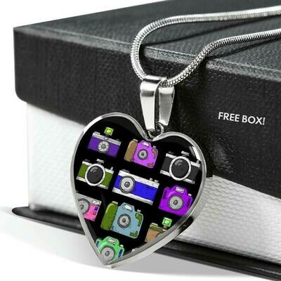 Upload Your Own PERFECT Photo- Heart Adjustable Necklace