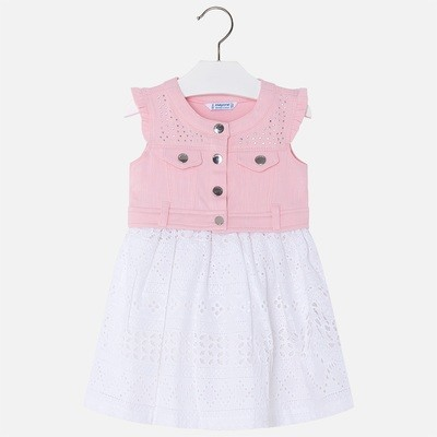 Denim & Eyelet Dress 3976 4