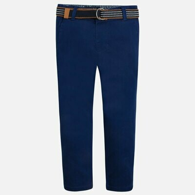 Belted Twill Pants 3503A-3